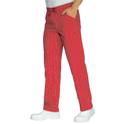Pantalon Cuisinier Carreaux Rouge Blanc - 044687.jpg