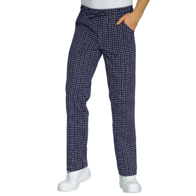 Pantalon Cuisinier Carreaux Bleu Blanc - 044682.jpg