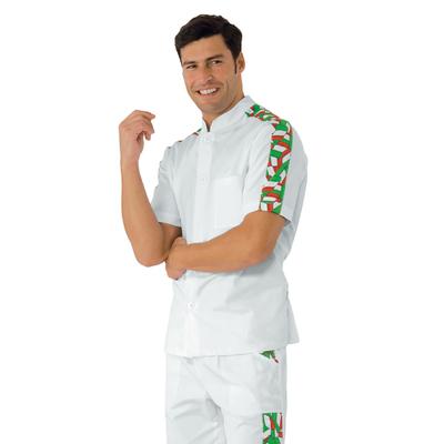 Tunique de travail Homme manche courte Blanc Italie - 056022.jpg