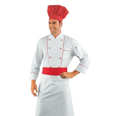 Veste Chef Cuisinier Blanc et Rouge - 059300.jpg