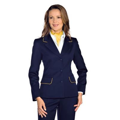 Veste Femme Mi-Saison Portland Bleu Bordures Or - 027852.jpg