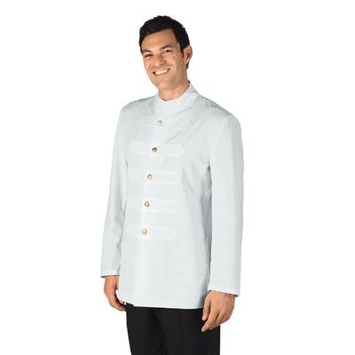 Veste Coreana Homme avec Boutons Brodes Blanc 100% Polyester - 066600.jpg