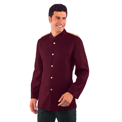 Veste Major d' Homme Bordeaux Epaulettes Tressees - 066203.jpg