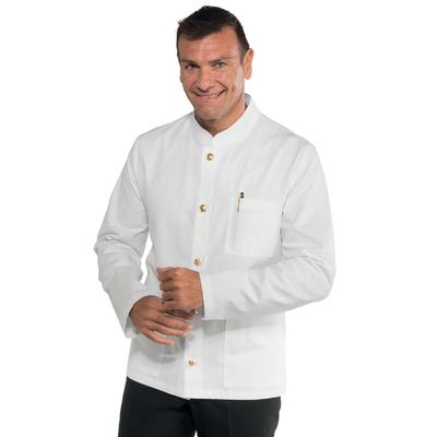 Veste Homme Col Mao Coreana Blanc 100% Coton - 066000.jpg