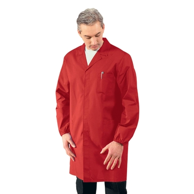 Blouse Medicale Homme Manches longues Rouge - 061023.jpg