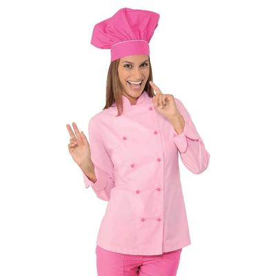 Veste de cuisine Femme Ultra leg�re Rose lisere Fuchsia - 057523.jpg