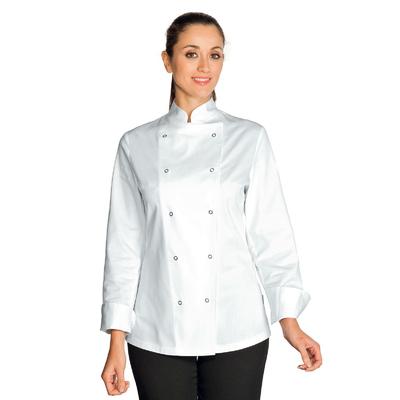 Veste de Cuisine Femme Esmeralda Blanc 100% Coton - 057520.jpg