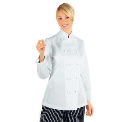 Veste Femme Chef Cuisinier Blanc 100% Coton - 057500.jpg