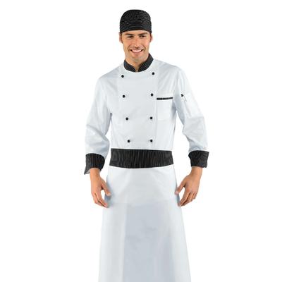 Veste Chef Cuisinier vienna Blanc et Noir 100% Coton - 057051.jpg