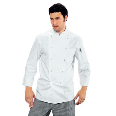 Veste de cuisine blanche 100% Coton - 057008.jpg