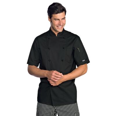 Veste Chef Cuisinier Extralight Manches Courtes Noir - 056901.jpg