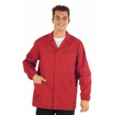 Veste Medicale Homme Manches Longues Sport Rouge - 052123.jpg
