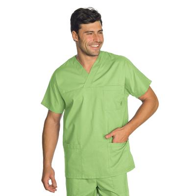 Casaque Medicale Col en V Unisexe Vert Pomme - 045726.jpg