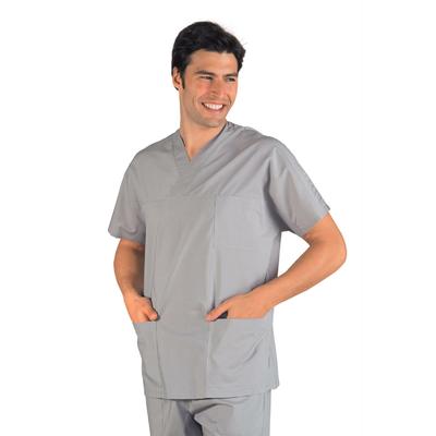 Casaque Medicale Col en V Unisexe Gris - 045012.jpg
