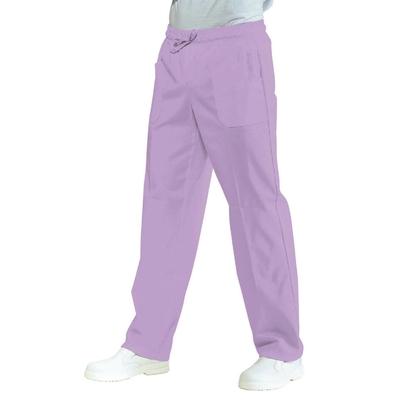 Pantalon medical Mixte a Taille Elastique  Lilas 100% Coton - 044427.jpg