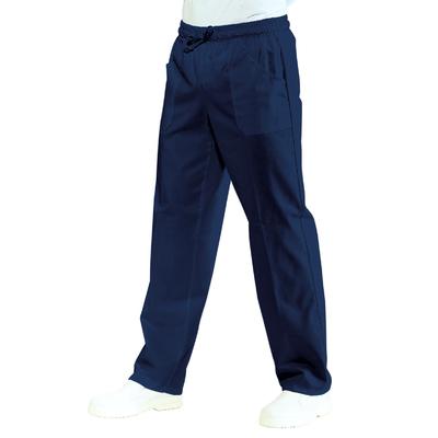 Pantalon medical Mixte Taille elastique Bleu marine 100% Coton Bleu - 044402.jpg