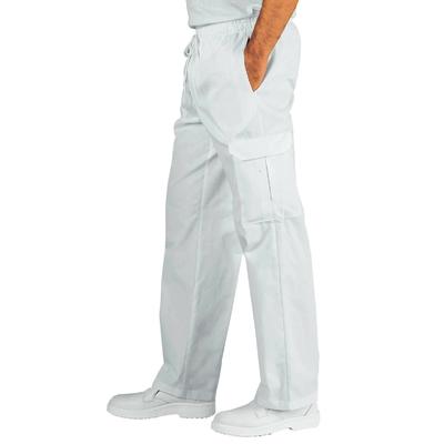Pantalon Medical Blanc 100% Coton Taille Elastique - 044110.jpg
