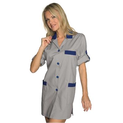 Blouse de Travail Manches ajustables York Gris Bleu - 016012.jpg