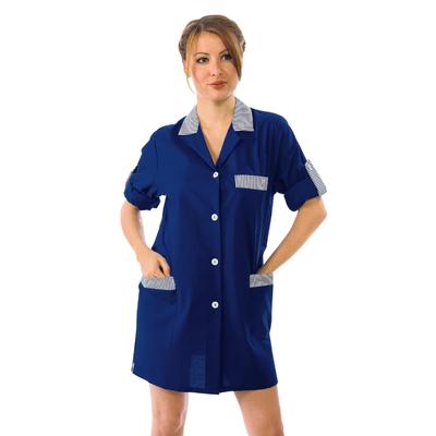 Blouse de Travail Manches ajustables York Bleu Fonce Raye Bleu - 016010.jpg