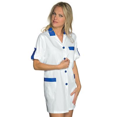 Blouse de Travail Manches ajustables York Blanc Bleu Cyan - 016006.jpg