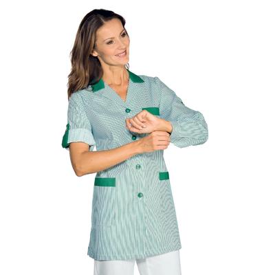 Blouse de Travail Manches ajustables York Vert Raye Vert - 016004.jpg