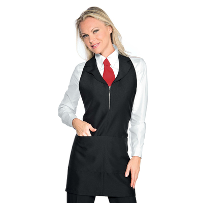 Tablier de service pour femme Madeira Avec Zip Noir - 090301.jpg