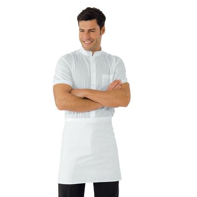 Tablier de Cuisine Blanc sans Poche 100% Coton - 086000.jpg