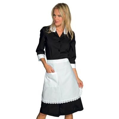 Tablier blanc en dentelle Femme de chambre 100% coton - 083010.jpg
