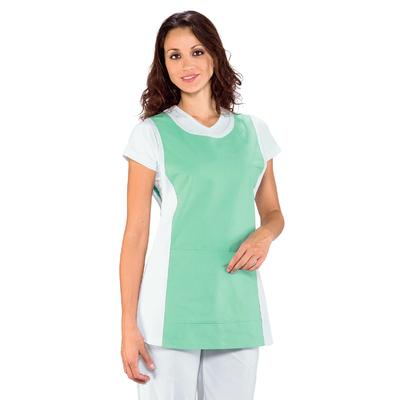Chasuble Medicale Papeete Blanc Vert Clair - 013049.jpg