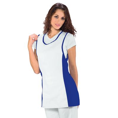 Chasuble Medicale Papeete Bleu Cyan Blanc - 013006.jpg