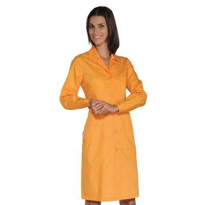 Blouse de travail Femme à manches longues, Abricot - 009013.jpg