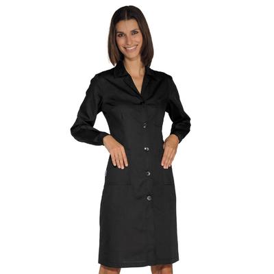 Blouse de travail Femme à manches longues, noire - 009001.jpg