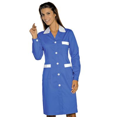 Blouse De Travail Manches Longues Positano Bleu Cyan Blanc - 008906.jpg