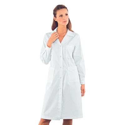 Blouse Médicale Femme Boutons Pression Blanc - 008010.jpg