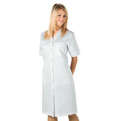 Blouse de Travail Michelle Manches Courtes Blanc 100% Coton - 007150.jpg