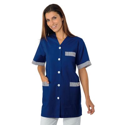 blouse de travail dacca bleu hotellerie blouse femme de. Black Bedroom Furniture Sets. Home Design Ideas