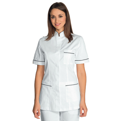 Tunique infirmiere Manches courtes Panarea Blanc Noir - 002731.jpg
