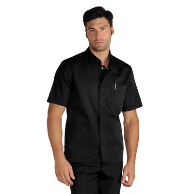Blouse Médicale Noire manches courtes pour Homme extra light - 066361M.jpg