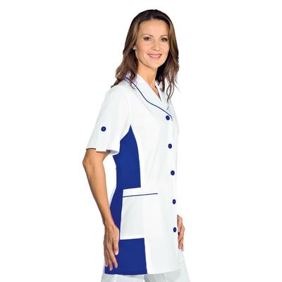 Blouse blanche Médicale Pasadena Fintion Bleu Cyan - 050306M.jpg