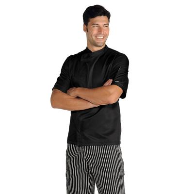 Veste de Cuisinier Malaga noir Microfibres - 059931M.jpg