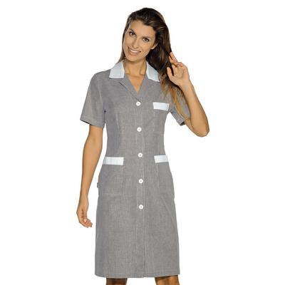 Blouse de Travail Positano rayé noir blanc 100% Coton - 008961M.jpg