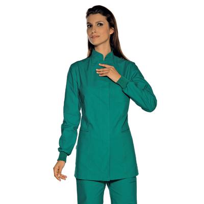 Tunique Médicale Verte Poignets Serrés 100% Coton - 007954P.jpg