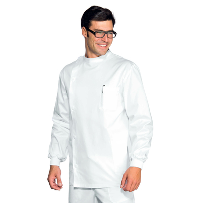 Tunique Dentiste Poignets Serrés Blanc 100% Coton - 043000P.jpg