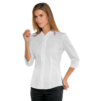 Chemise blanche manches 3/4 pour Femme Stretch Confort - 025650T.jpg