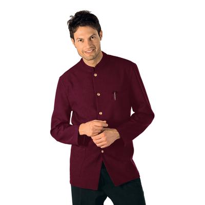 Veste De Service Col Mao Bordeaux 100% Coton - 066203X.jpg