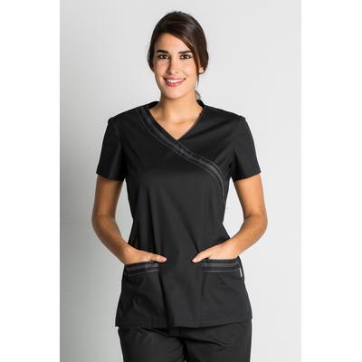blouse médicale noire stretch