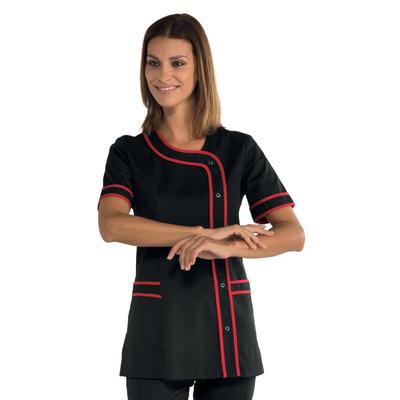 Tunique de travail Brasilia noire et rouge