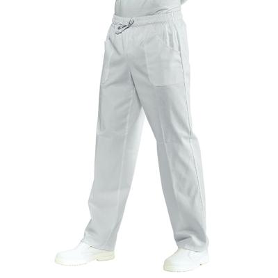 Pantalon médical Mixte Blanc à Taille élastique