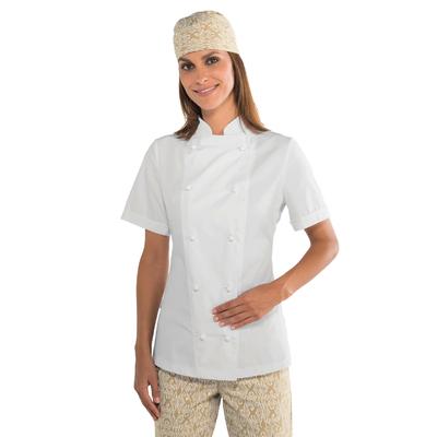 Veste de cuisine blanche pour Femme tissu Extra léger
