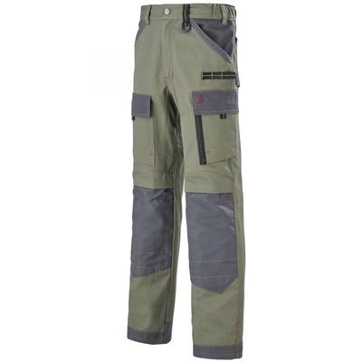 Pantalon de travail kaki et gris / 1ATTUP7011